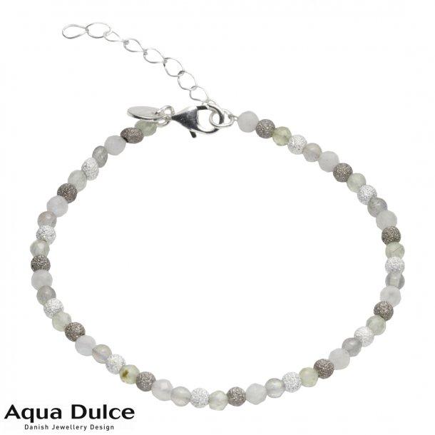 Armbånd med perler i grå nuancer - Aqua Dulce Molly
