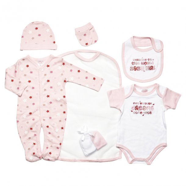 Babysæt - 7 dele, lyserød