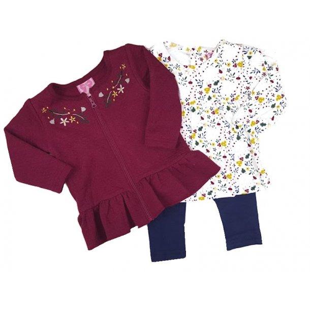 Børnetøj med Bluse, Leggings og Cardigan