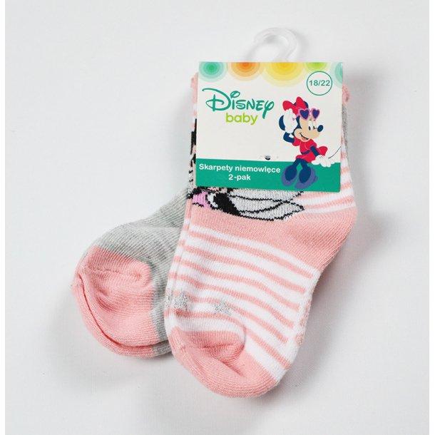 Babystrømper med Minnie 2 pak.