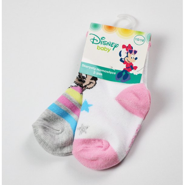 Baby strømper med Minnie, 2 pak