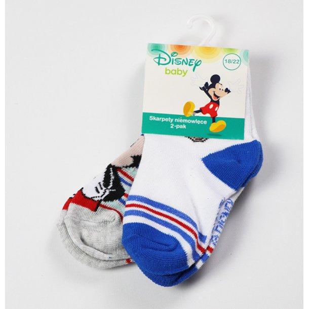 Baby strømper med Mickey, 2-pak