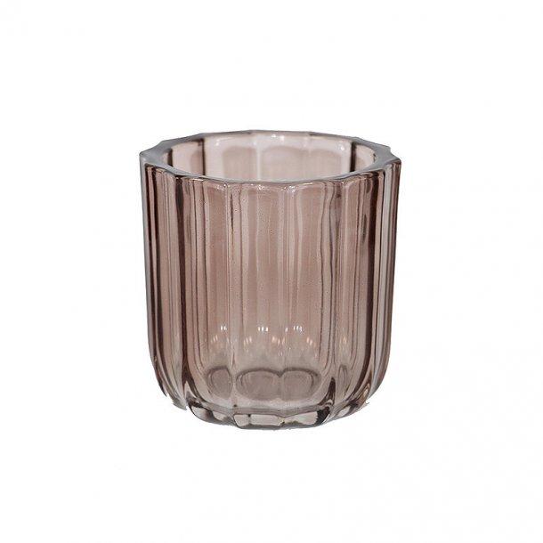 Fyrfadsstage i glas - stage i farvet glas