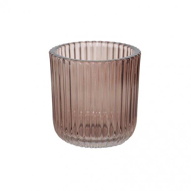 Glasstage til fyrfadslys - farvet fyrfadsstage