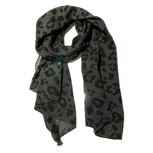 Grønt tørklæde - Tørklæde med silke